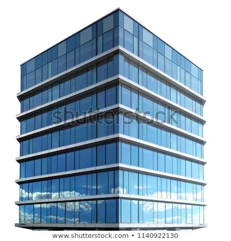 Irodaház fehér illusztráció iroda munka terv Stock fotó © bluering