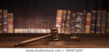 Verdict tribunal juge Homme livre Photo stock © JanPietruszka