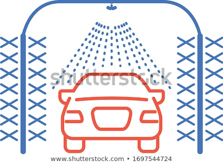 Automatic car wash icon - car-wash with cylindrical brushes Stock photo © gomixer