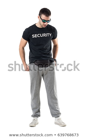 Knap mannelijk atleet beveiligde weerstand lus Stockfoto © benzoix