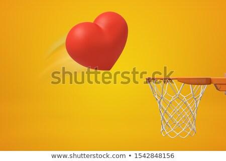 Rojo corazones realista vuelo amarillo forma de corazón Foto stock © Andrei_