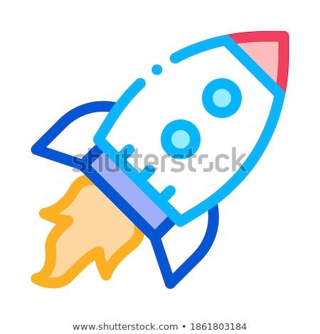 Vuelo cohete astronave ágil elemento vector Foto stock © pikepicture