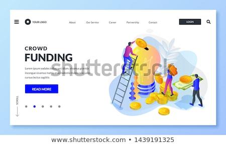 Zakenman nieuwe project laptop mensen internet Stockfoto © RAStudio