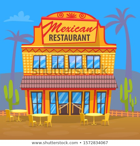 Mexican Restaurant Exterior of Building Eatery Stock photo © robuart