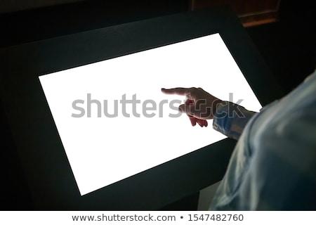 цифровой интерактивный 3d иллюстрации изолированный белый бизнеса Сток-фото © montego