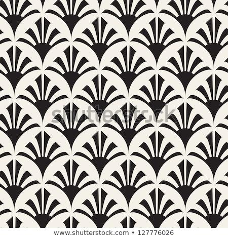 Wektora bezszwowy kwiatowy wzór pasiasty czarno białe Zdjęcia stock © ExpressVectors