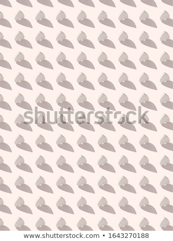 Valentine's vertical inverted hearts pattern with hard shadows. Stock photo © artjazz