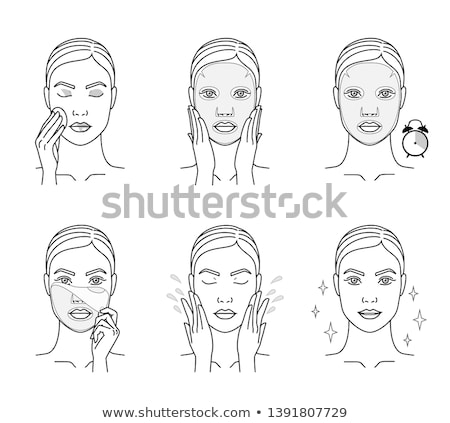 Wrinkle Smoothing Mask Icon Outline Illustration Stock photo © pikepicture