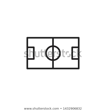 Football Field Icon Vector Outline Illustration Stock photo © pikepicture