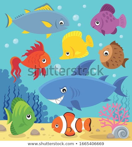 Stylized fishes topic image 5 Stock photo © clairev