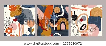 Vector ingesteld abstract bloemen Stockfoto © user_10144511