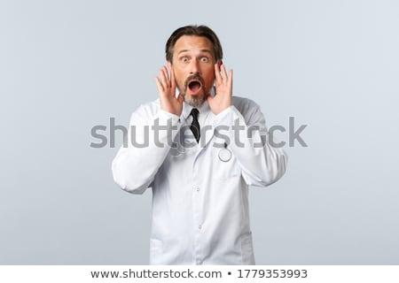 shouting shocked healthcare worker stock photo © vladacanon