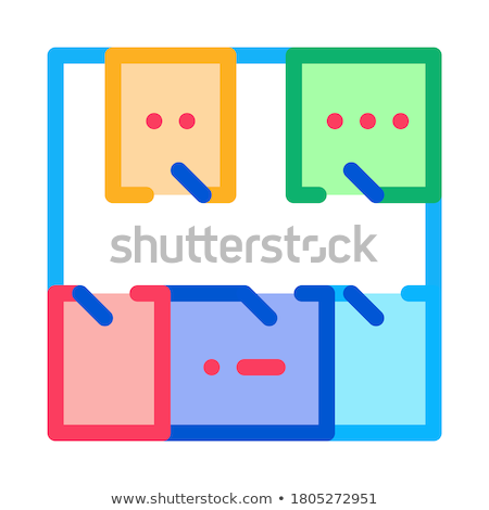 geodetic axis breakdown icon vector outline illustration Stock photo © pikepicture
