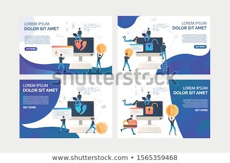 Computer landing pagina aanval rechtshandhaving crimineel Stockfoto © RAStudio