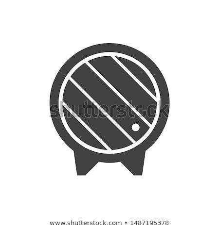 Vino barril icono vector Foto stock © pikepicture