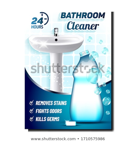 Bathroom Cleaner Creative Promo Poster Vector Stock photo © pikepicture