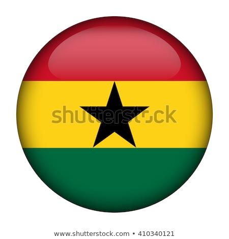 Ghana flag, vector illustration on a white background Stock photo © butenkow