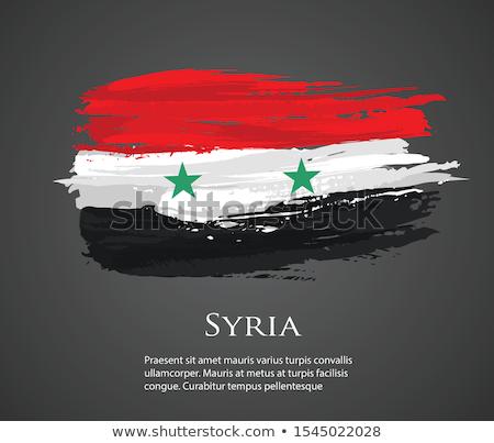 Syrië vlag witte teken land asia Stockfoto © butenkow