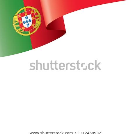 Португалия флаг белый волна цвета лента Сток-фото © butenkow