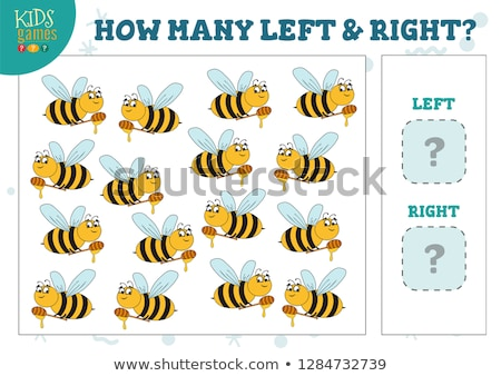 Cartoon Illustration of Educational Game of Counting Left and Right Picture Stock photo © natali_brill