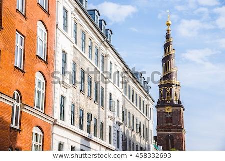 Helix spire of Church of Our Saviour in Copenhagen, Denmark Stock photo © boggy