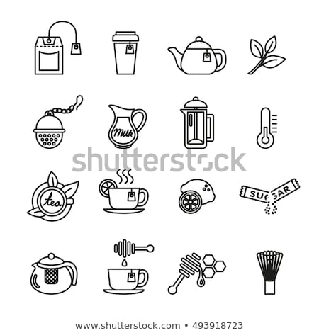 Tea Ceremony Tradition Collection Icons Set Vector Stock photo © pikepicture