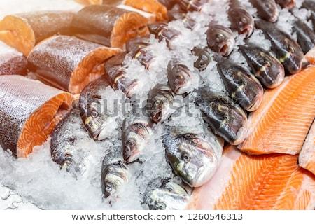 Hal tengeri hal vásár piac Nápoly Olaszország Stock fotó © elxeneize