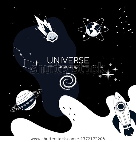 Universo projeto estilo ilustração lugar planetas Foto stock © Decorwithme