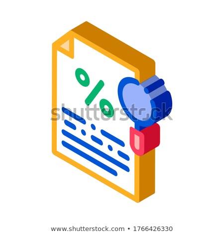 Studie documentatie isometrische icon vector teken Stockfoto © pikepicture