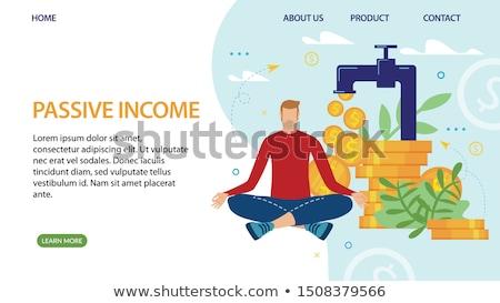 受動 収入 ベクトル メタファー 簡単 ストックフォト © RAStudio