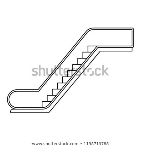 escada · rolante · multidão · negócio · cidade · empresário · trem - foto stock © paha_l
