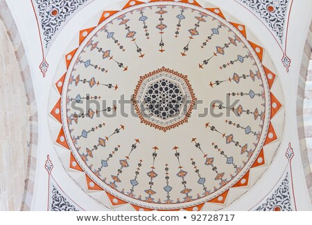 Suleymaniye Mosque Ceiling stock photo © rognar