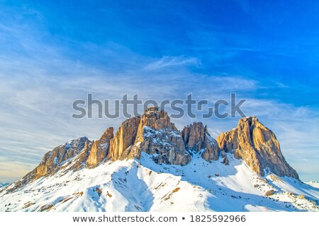 dağ · yaz · görmek · İtalyan · yol · bulutlar - stok fotoğraf © antonio-s