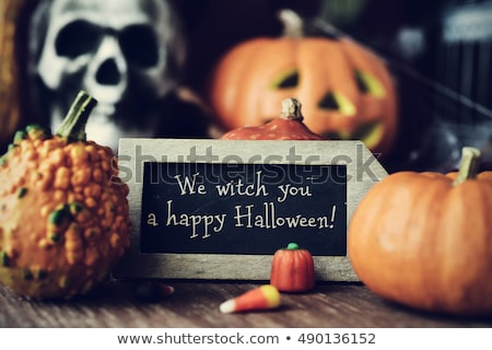 Happy Halloween on Blackboard Stock photo © ivelin