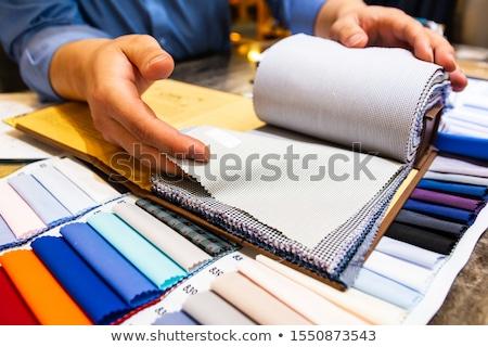 Colorful fabrics in the store stock photo © borna_mir