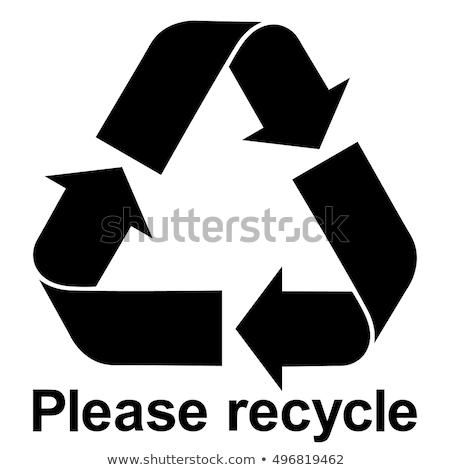 portret · vrolijk · vrijwilligers · recycling · symbool · vrouw - stockfoto © photography33