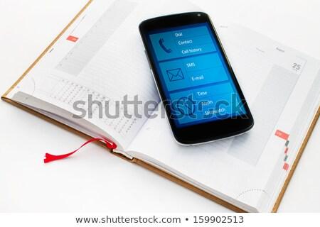 Fekete szervező címkönyv napló könyv munka Stock fotó © latent