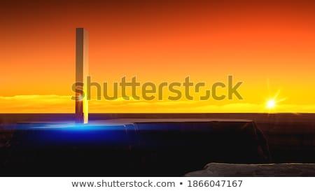 Stock fotó: Furcsa · felhők · mély · kék · ég · égbolt · textúra