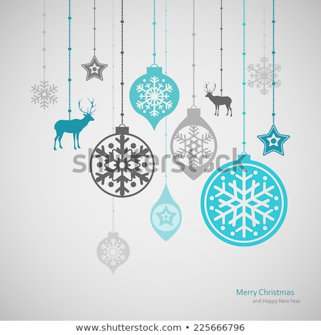 Blue christmas decorations isolated on white stock photo © Shevlad