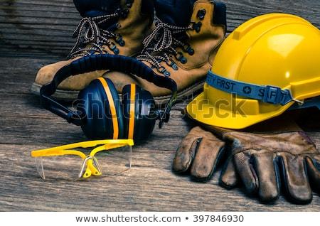 inşaat · mühendisler · konuşmak · flipchart · Bina · plan - stok fotoğraf © photography33