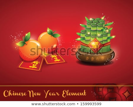 Chinese New Year - Red Wealth pot Stock photo © azamshah72