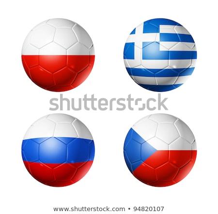 Чешская республика футбольным мячом Футбол матча мяча 2012 Сток-фото © bestmoose