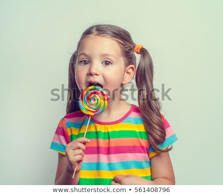 sweet lollipops isolated with copy space Stock photo © happydancing