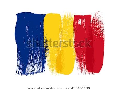 グランジ フラグ ルーマニア語 古い ヴィンテージ グランジテクスチャ ストックフォト © HypnoCreative