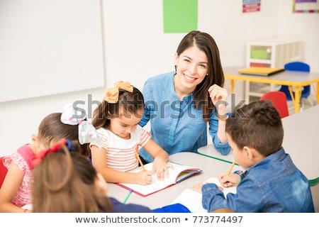 肖像 教師 世界中 学校 子供 ストックフォト © photography33