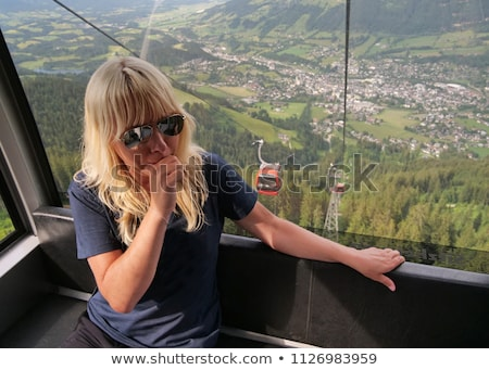 Woman afraid of heights Stock photo © photography33
