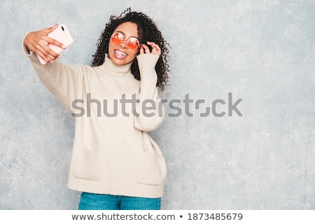 Sexy Woman Posing In Black Stock photo © adamr