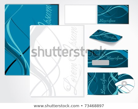 abstract grunge based corporate id Stock photo © pathakdesigner