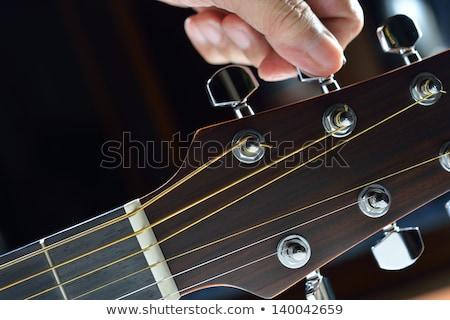 Gitar ayar müzik eller eğlence Stok fotoğraf © aremafoto
