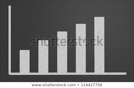 charts growing up written with chalk on a blackboard stock photo © bbbar